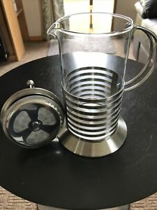 Coffee Cafetiere : Stainless Steel/ Pirex