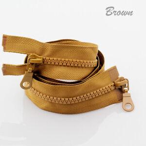 5# Double Zippers Resin Zipper Open End DIY Bag Garments Craft Sewing HOT