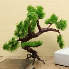 Artificial Bonsai Pine Tree Plastic Removable Fish Tank Aquarium Ornament FV55