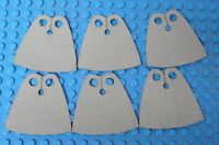 6x CUSTOM Capes For LEGO Minifig Minifigure - Standard Cape Body Wear GRAY