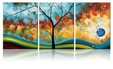 MODERN Ready To Hang Canvas Art Wall Painting Abstract Framed Living Room Decor