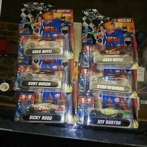 Hot Wheels Racing NASCAR 1:64 Lot of 6- 2004 Justice League. New