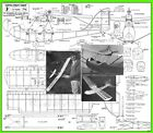 """Model Airplane Plans (FF): Curtiss-Wright 'Junior' 48"""" Scale for 1cc Engines"""