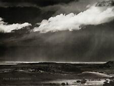 1960/72 Vintage ANSEL ADAMS Storm Clouds Great Plains Landscape Photo Art 11X14