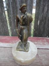 Antique Old Western Cowboy Brass Statue Figure Marble Base Cowboys of Argentina
