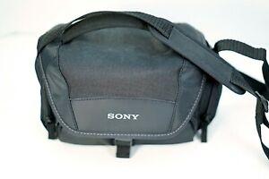 Sony Camera Bag Soft Carrying Adjustable Shoulder Handycam Camcorder Case Bag