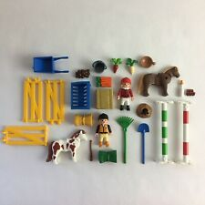 Playmobil 5893 Pony Farm Horse Riding Equestrian Farm Carry Case - Complete