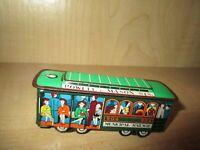 Vintage Tin Toy Trolley Train Car Municipal Railway 504
