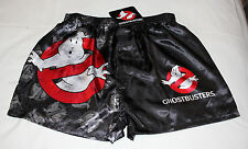 Ghostbusters Logo Mens Black Printed Satin Boxer Shorts Size M New