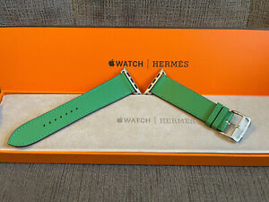 Apple Watch Hermes 6 Green Swift Leather Band 44MM