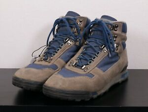 Vintage VASQUE Clarion Men's 10 Lugged Sole Hikers Hiking Boots -Gray/Blue