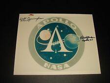 MULTI HAND SIGNED RED NUMBERED NASA APOLLO PROGRAM EMBLEM PHOTO-A KODAK PAPER