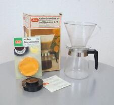 Melitta 0,7 Liter Glas Kaffee Kanne + Kaffee Schnellfilter + Saugdeckchen OVP