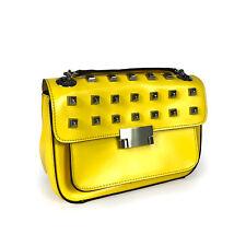 New Ladies Yellow Clutch Leather Handbag