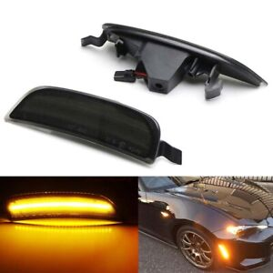 For 2016-2019 Mazda MX-5 Miata ND Smoke Lens Amber LED Side Marker Signal Lights