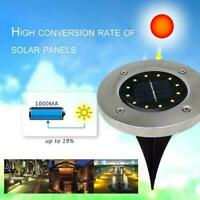 12LED Solar Power Buried Light Under Ground Lamp Path Decking Way Garden W0H4