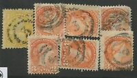 "CANADA #35, 41 USED SMALL QUEENS 2-RING NUMERAL CANCEL ""3"""