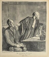 Honore Daumier France 1808 -1879 Lithograph  A Respected Citizen