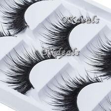 Natural Thick 5 Pairs Makeup False Eyelashes Long Handmade Eye Lashes Extension.