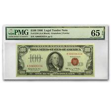 1966 $100 U.S. Note Red Seal CU-65 EPQ PMG - SKU#152342