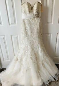 MORI LEE 1903 Strapless Bridal Gown Wedding Dress Size 6 New