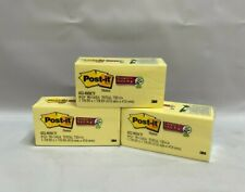 Lot Of 3 Post It Notes 15 In X 2 In Canary Yellow