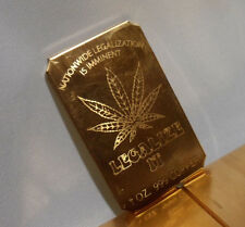 4 ozs. Marijuana Legalize It .999 Fine Copper Bullion Bar Ingots Free Ship