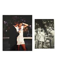 Tennis Photos Legends Martina Navratilova - Jimmy Connors - John McEnroe