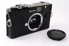 """Zeiss Ikon 35mm ZM Rangefinder Camera in Black Leica M """"Excellent++"""" #0979"""