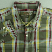 Siegfried Vintage Button Up Shirt Mens XL Green Yellow Long Sleeve Cotton Plaid