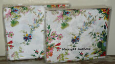 NEW Ralph Lauren BELLE HARBOR Floral WHITE 2pc KING FLAT & FITTED SHEET SET Rare