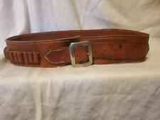 VINTAGE S.D.MYRES El PASO TEXAS AMMO BELT. 44 INCHES LONG BY 2.5 INCHES WIDE