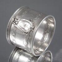 Antique French Sterling Silver Napkin Ring, Iris, Ravinet & Denfert, 1891-1912