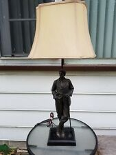 Vintage Art Deco Golfing Player Table Lamp 30' Tall