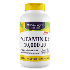 Healthy Origins Vitamina D3 10,000 UI 360 Softgels | immune Salute Vitamina Vit D