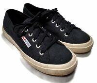 Superga Women's Black Canvas Chunky Sole Fashion Sneaker Size US 5 Men's 6.5