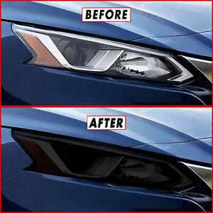 FOR 19-21 Nissan Altima Headlight SMOKE Precut Vinyl Tint Overlays
