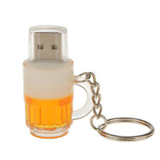 Beer Mug High Speed USB 2.0 Flash Pen Drive Memory Disk with Key Chain 16GB PC