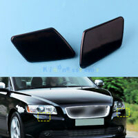 Pair RH LH Front Bumper Headlight Washer Jet Nozzle Cover Cap For Volvo V50 S40