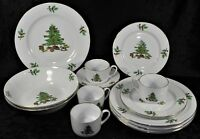 Holiday Hostess Christmas China Dinnerware - Plates, Bowls, Cups, Saucers - EUC
