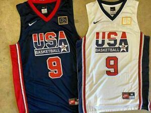NWT #9 Michael Jordan Dream Team USA Men's White or Navy Stitched Jersey