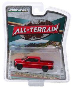 1:64 GreenLight *ALL-TERRAIN 9* Red 2019 Chevrolet Silverado LT Trail Boss NIP