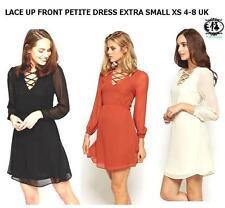 V-Neck Casual Striped Petite Dresses for Women