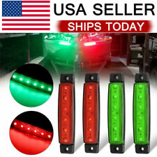 4pcs Red Green Boat Navigation Led Lights Stern Lights Boats Starboard Light 12V