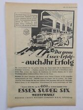 ORIGINAL UM 1930 MOTOR & SPORT WERBUNG HUDSON ESSEX SUPER SIX SPANDAU 10/50 PS