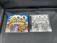 ZOO TYCOON COMPLETE COLLECTION 2 DISC PC CD-ROM GAME DINOSAUR DIGS MARINE MANIA