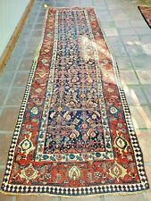 Gorgeous Antique Navy and Red Runner - 12x3