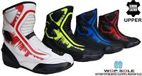 MENS BLACK LEATHER MOTORBIKE MOTORCYCLE CE RACING ANKLE BOOTS SPORTS SHORT SHOES