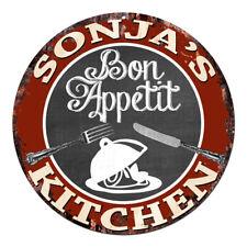 CPBK-0468 SONJA'S KITCHEN Bon Appetit Chic Tin Sign Decor Gift Ideas