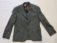 Gibson London Mens Blazer Jacket Dnim Marl Blue Size 42'' *REF90